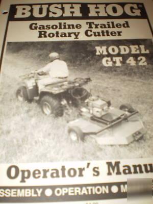 Bush hog model GT42 rotary cutter operator\'s manual