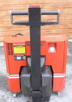 Prime mover electric pallet jack works, needs batteries