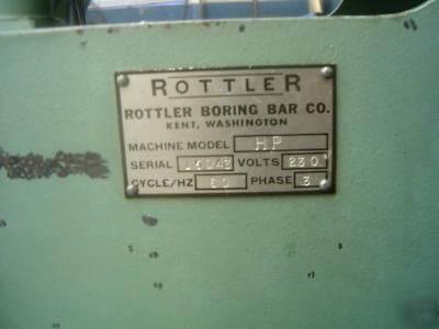 Rottler model hp power stroke engine cylinder hone