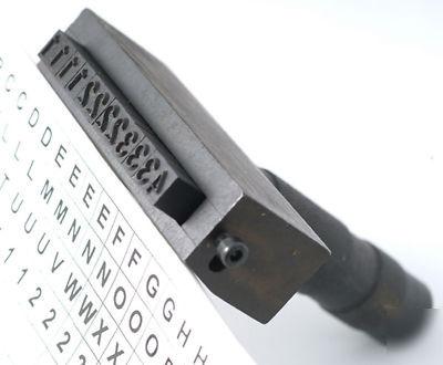 112pc Number Letter Steel Stamp Kit 1 8 Inch Impression