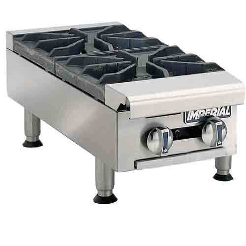 Imperial ihpa-2-12 hotplate, countertop, gas, double bu